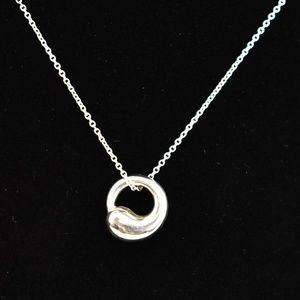 TIFFANY Sterling Silver Eternal Circle Necklace tp